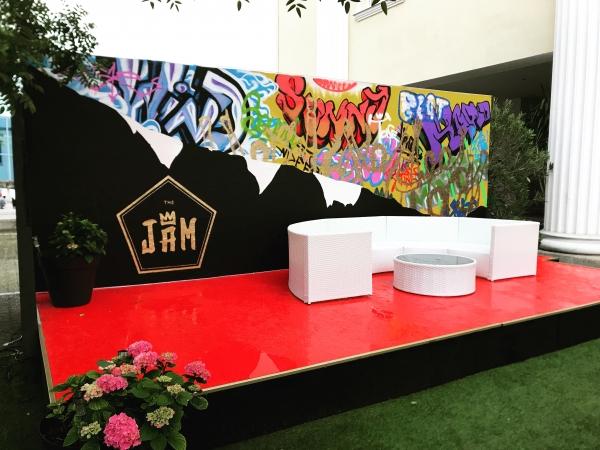 The Jam Stage Sommer Bühne Rote Bühne Wiener Neustadt Graffiti selbst gemacht